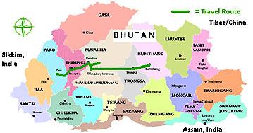 bhutan reiseroute kultur reise