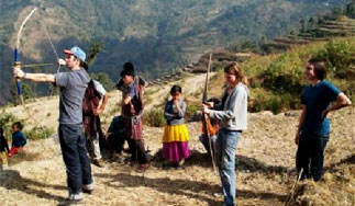 bogenschiessen samthar kalimpong indien