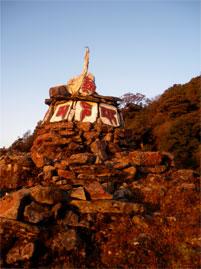 grenze indien nepal sikkim schrein mantra