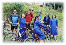 kalimpong missionarsschule nonnen rad reise indien