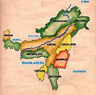 karte nord ost indien