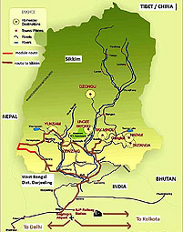 karte route trekking rhododendron hoehenweg barsey naturreservat singelela sikkim indien