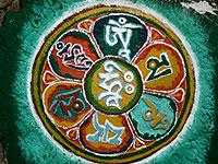mantra gebet tibetisch om mani pedme hung sikkim tashiding indien