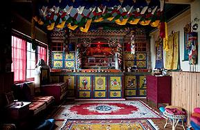 meditationszimmer gebetsraum bamboo retreat-hotel sikkim indien