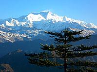 panorama kantschenzdonga massiv sikkim indien