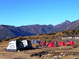 trekking camp zeltlager goechela khangchendzonga sikkim