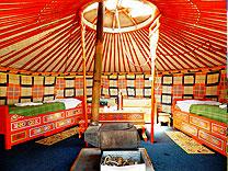 yurte camp inneneinrichtung gobi mongolei